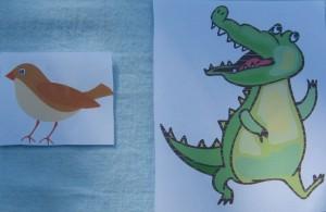 крокодил и воробей