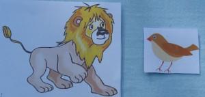 лев и воробей