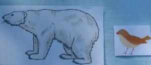 медведь и воробей