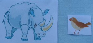 носорог и воробей