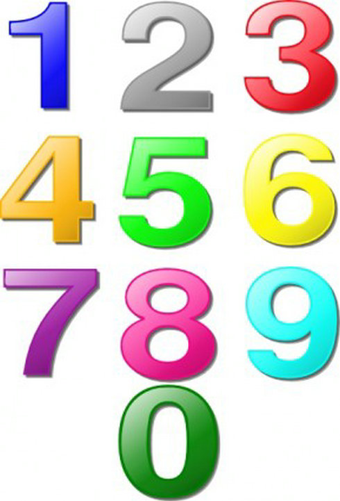 рисунки цифры в картинках